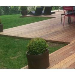 ☺ Pack de 1.35 m² soit 6 Lames de Terrasse Cumaru KD 1er Choix 21x145 Lisse en 1m55 - Livraison Gratuite
