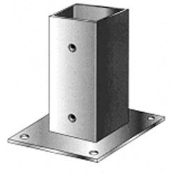 Support pied de poteau bois 200x200 / 20x20 à fixer galvanisé à chaud
