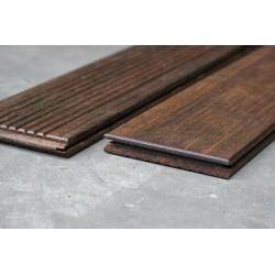 Pack de 1.014 m² soit 4 Lames de Terrasse Bamboo 2 Faces (lisse et striée) 20x137 en 1.85m + Clips et Vis