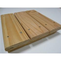 ☺ Pack de 1.9 m² soit 10 Lames de Terrasse ECO 22x95mm Douglas Naturel Déclassé 2M