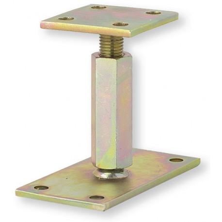 ▲ Pied de poteau réglable hauteur H110/180mm universel galvanisé B16X9