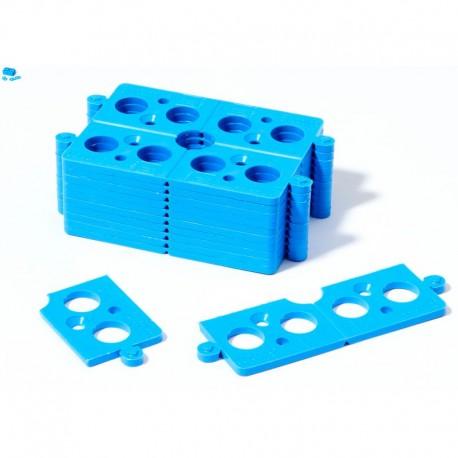 Cale Plate Sécable 3 mm bleu 40 pièces