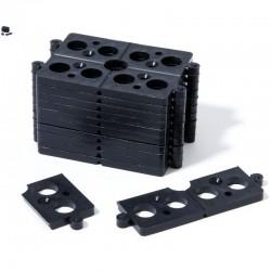 Sachet de 40 Cales Plates Sécables en 4 soit 160 cales de 5 mm d'épaisseur noir 40 x 4 pièces