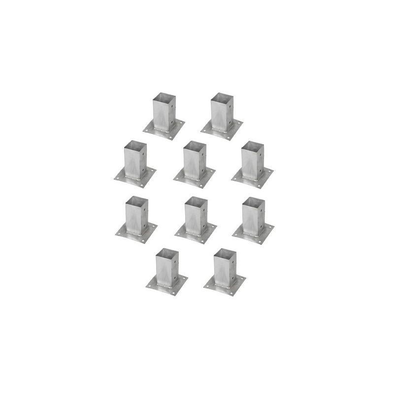 support pied de poteau bois 90x90 9x9 fixer galvanis chaud accessoires