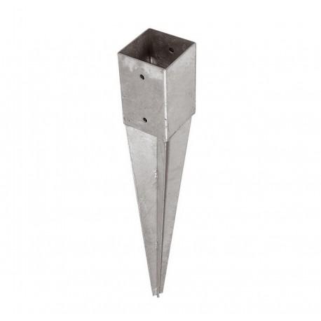 Support pied de poteau 9 x 9 x 90 cm ( 9x9 ) à enfoncer galvanisé à chaud