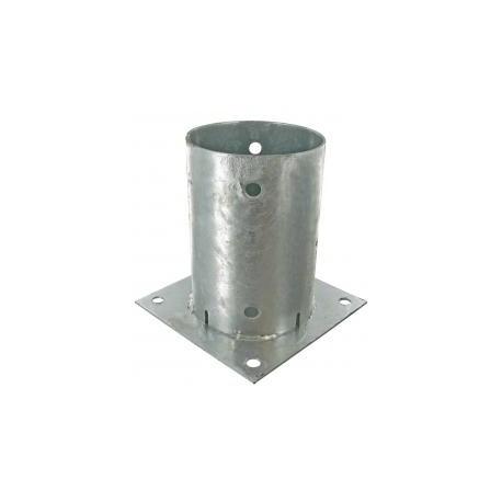 Support pied de poteau rond à fixer galvanisé à chaud