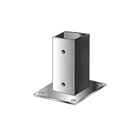 Support pied de poteau bois 160x160 / 16x16 à fixer galvanisé à chaud