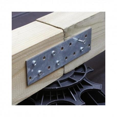 Connecteur Métallique / Platine d'assemblage lisse pour fixation bois 60x200 de 2 mm