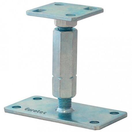 Pied de poteau réglable hauteur H120/195mm universel galvanisé B16x8