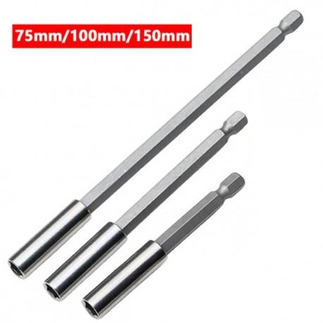 Lot de 3 Portes Embouts Magnétique Hexagonal 1/4 75 - 100 - 150 mm