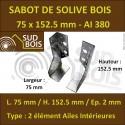 Sabot de Solive / Charpente à ailes intérieures 2 éléments 75x152.5