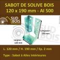 Sabot Universel de Solive pour Charpente à Ailes Intérieures 120x190 mm AI 500