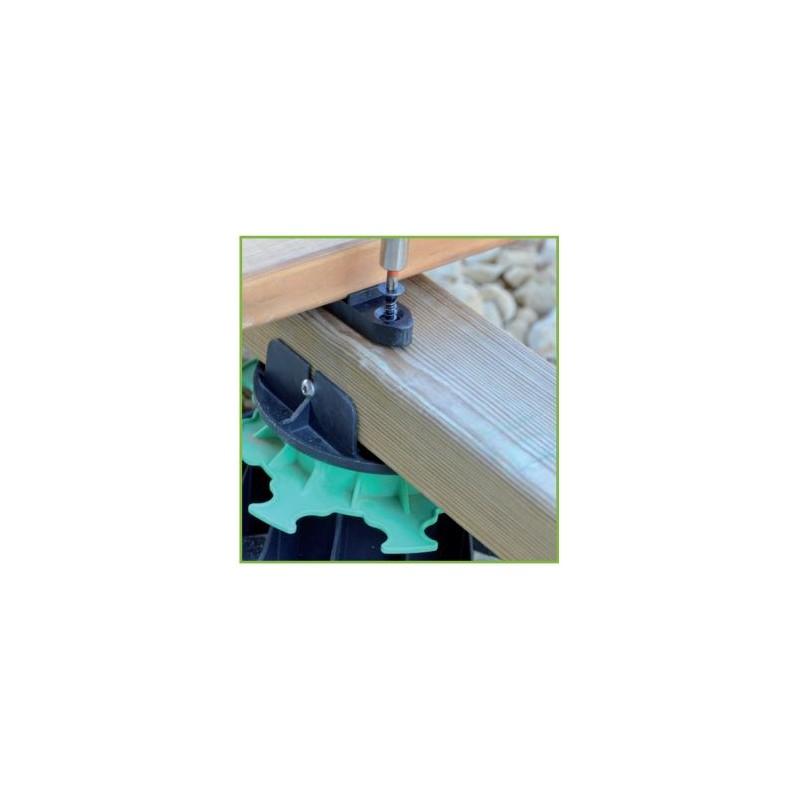 fixego fixation invisible pour lames de terrasse de 25mm d 39 p accessoires. Black Bedroom Furniture Sets. Home Design Ideas