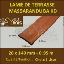 Lame Terrasse Massaranduba KD 20x140 Lisse 2 Faces 20x140 0.95m