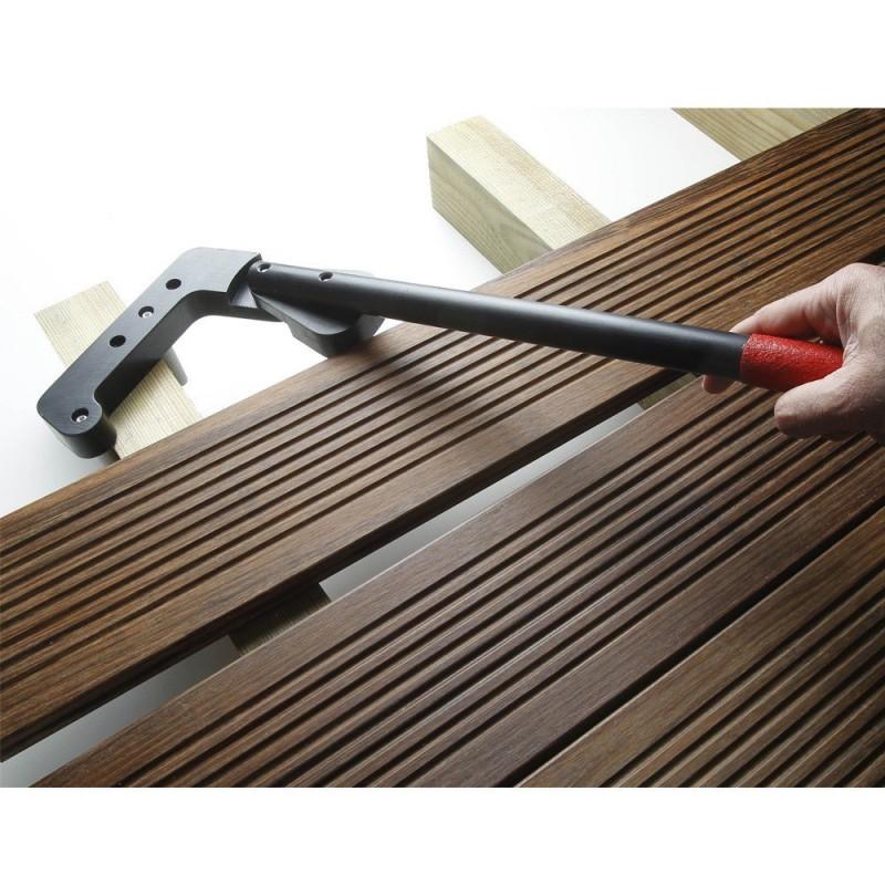 redresseur de lames de terrasse accessoires bois pas cher vis inox support. Black Bedroom Furniture Sets. Home Design Ideas