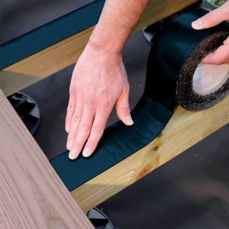 Rouleau Bande Bitumeuse sous lambourde pour Terrasse 7.5 cm x 10 m