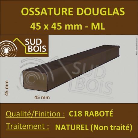 ☺ Tasseau / Carrelet 45x45 Douglas Naturel Choix 2-3 Raboté 3m