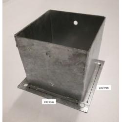 Support pied de poteau bois 15x15 à fixer galvanisé à chaud 150x150
