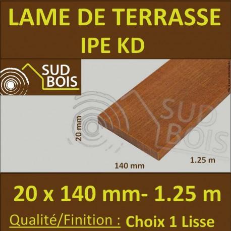 promo lame terrasse bois exotique ipe kd lisse 2 faces 20x140 125m - Lames Terrasse Pas Cher