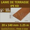 PROMO Lame Terrasse Bois Exotique IPE KD Lisse 2 Faces 20x140 1.25m